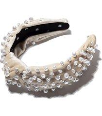 ivory faux freshwater pearl headband