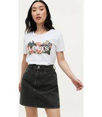 jeanskjol high-rise deconstructed skirt