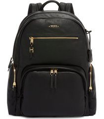 tumi carson multi-pocket backpack - black