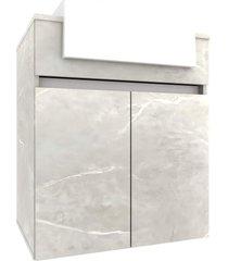 gabinete p/ banheiro c/ cuba cora 60cm mb bosi cinza - cinza - dafiti