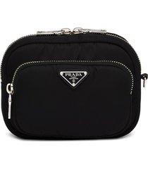 prada nylon cargo pouch - black