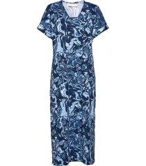 gumikb printed dress dresses everyday dresses blå karen by simonsen