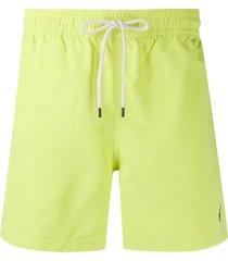 polo ralph lauren short de natação com patch de logo - verde