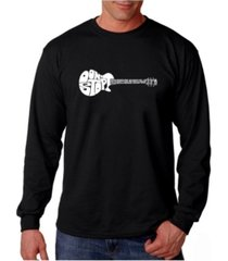 la pop art men's word art long sleeve t-shirt - don't stop believin