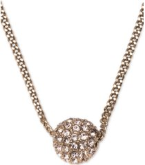 "givenchy crystal fireball pendant necklace 16"" + 2"" extender"