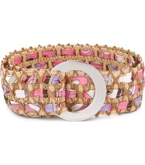 emilio pucci abstract print belt - neutrals