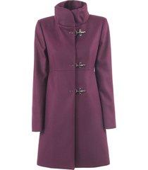 fay bordeaux virgin wool-cashmere jacket