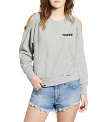 women's volcom edit n crop logo sweatshirt