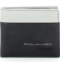 piquadro mens gray wallet