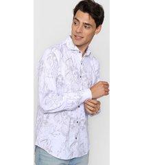 camisa blanca new astor florida slim fit