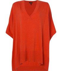 blusa rosa chá new ii tricot laranja feminina (flame / orange, gg)