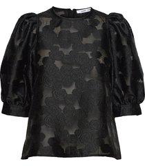 celestina blouse 12939 blouses short-sleeved svart samsøe samsøe