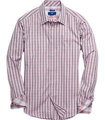 egara black & pink check sport shirt