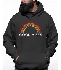 men's good vibes word art hooded sweatshirt