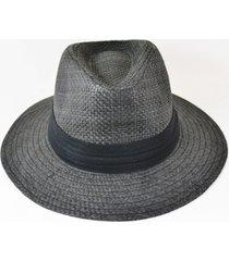 chapéu estilo chapelaira vintage panamá aba média preto - kanui