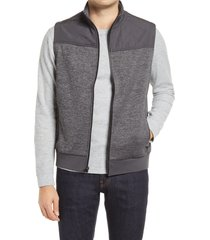 men's bugatchi quilted vest, size small - grey