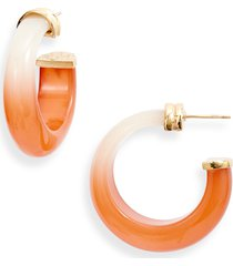 women's gas bijoux abalone hoop earrings