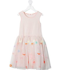 billieblush flared tulle dress - pink