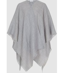 reiss grace - lightweight summer poncho in soft grey, womens