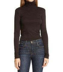 women's nordstrom signature turtleneck pullover, size medium - black