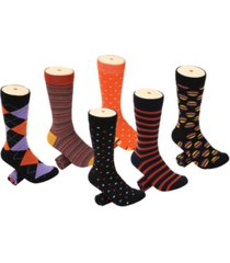 mio marino men's snazzy collection dress socks pack of 6