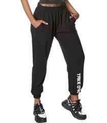 pantalon buzo jogger negro mujer corona