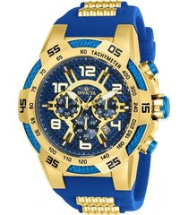 reloj invicta azul modelo 242ca para hombre, colección speedway