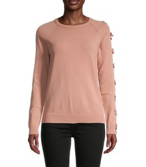redvalentino women's bow detail sweater - cherry - size m