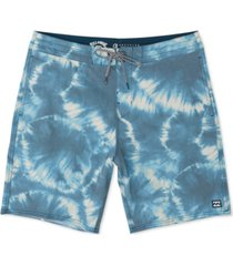 billabong men's all day riot lo tide micro repel tie-dyed board shorts