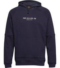 graphic hoody hoodie blå lee jeans
