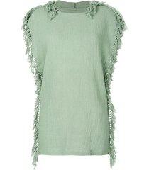 caravana kii hooded dress - green