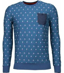 sweater bn8 black number flamingo - sweater - licht