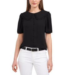 riley & rae rosie oversized-collar blouse, created for macy's