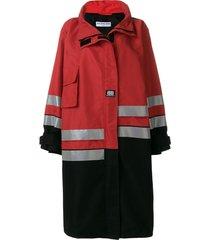 asymmetric panelled coat