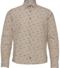 8646 - gordy sc skjorta casual beige xo shirtmaker by sand copenhagen