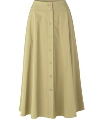 barbara long skirt in olive grey