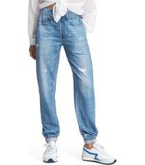 women's rag & bone miramar faux jeans joggers, size x-large - blue