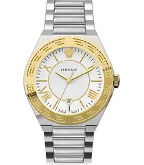 new landmark gent yellow gold stainless steel watch