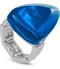 style & co resin stone stretch ring, created for macy's