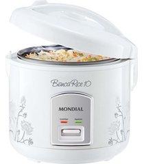 panela elétrica arroz mondial pequena 10 xícaras branca 110v decorada - tricae