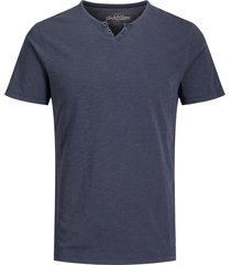 jack & jones t-shirt blauw henley slim fit