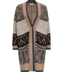 brunello cucinelli ikat cardigan in cashmere and mohair