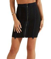 falda tight logo mirage garter skirt negro guess