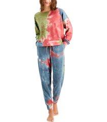 jenni women's tie-dyed pajama set, created for macy's