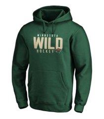 majestic minnesota wild men's empty netter hoodie