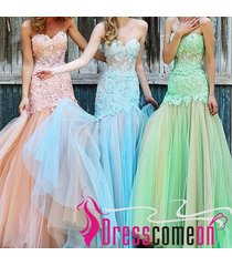 blue prom dress,new evening dresses,sexy prom dress,mermaid prom gown,tulle gown