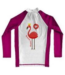 camiseta de lycra comfy flamingo rosa