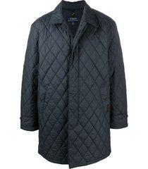 polo ralph lauren quilted walking coat - blue