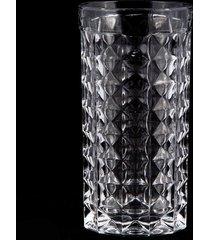 conjunto 2 bowl e 6 copos de cristal lodz - transparente