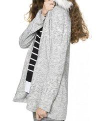 chaqueta larga pelos gris 7.5 setepontocinco